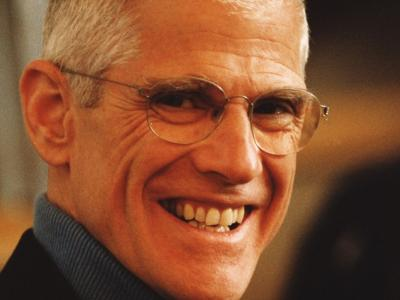close up picture of Sir Peter Jonas smiling
