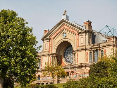 photo of the outside of alexandra palace