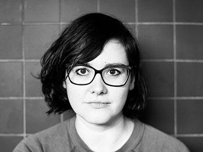 black and white portrait of Chloe Lamford