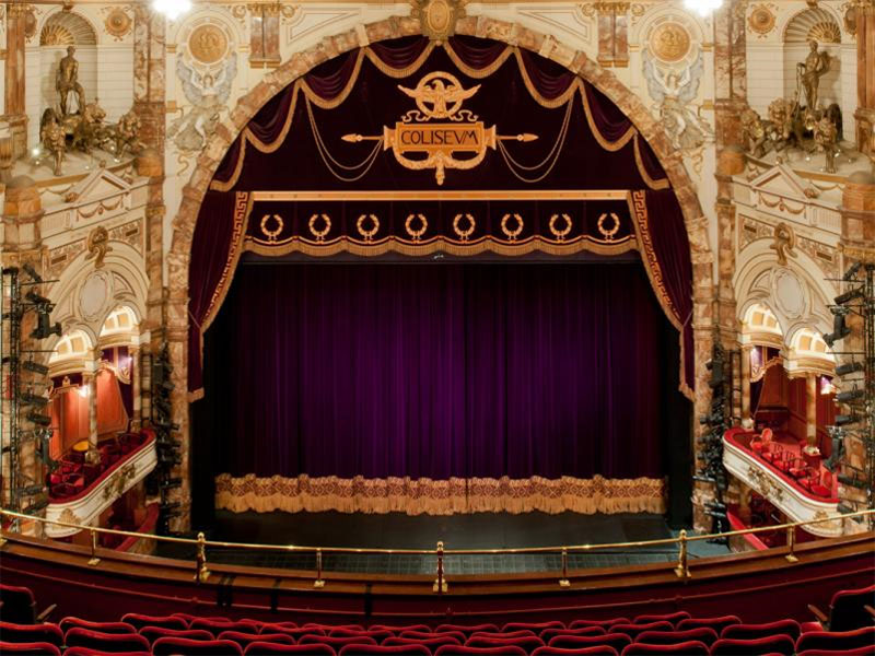 London Coliseum theatre and curtain