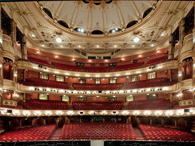 View of London Coliseum from the stage